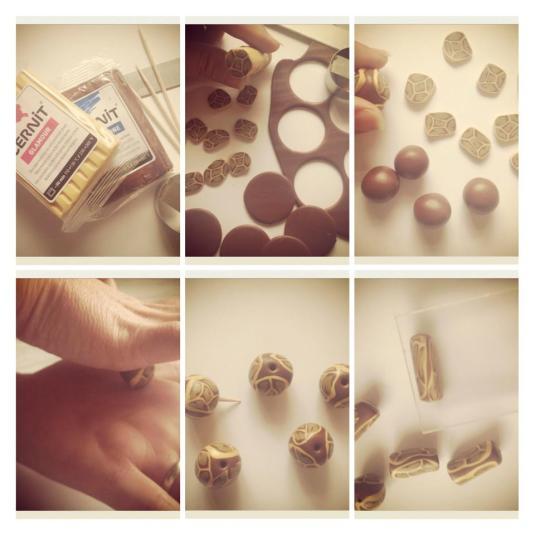 Simple animal print beads
